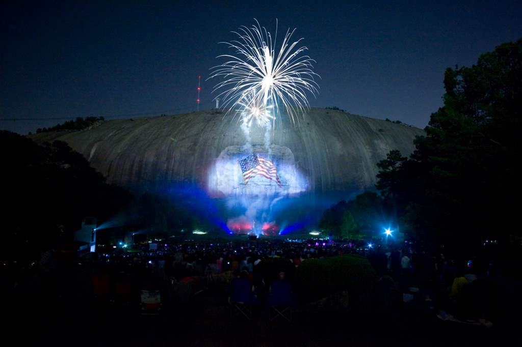 Fireworks at Stone Mountain Park, Georgia