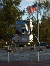 Replica of Apollo 11's Lunar Module at Warren Airways Airport site