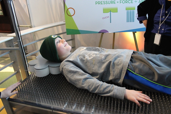 Bed of Nails at the Discovery Museum