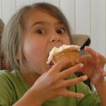 Kid Eating Cupcake
