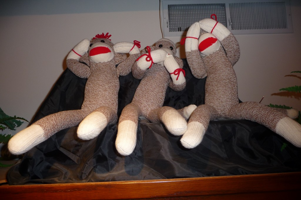 Sock Monkeys at the Midway Village Museum