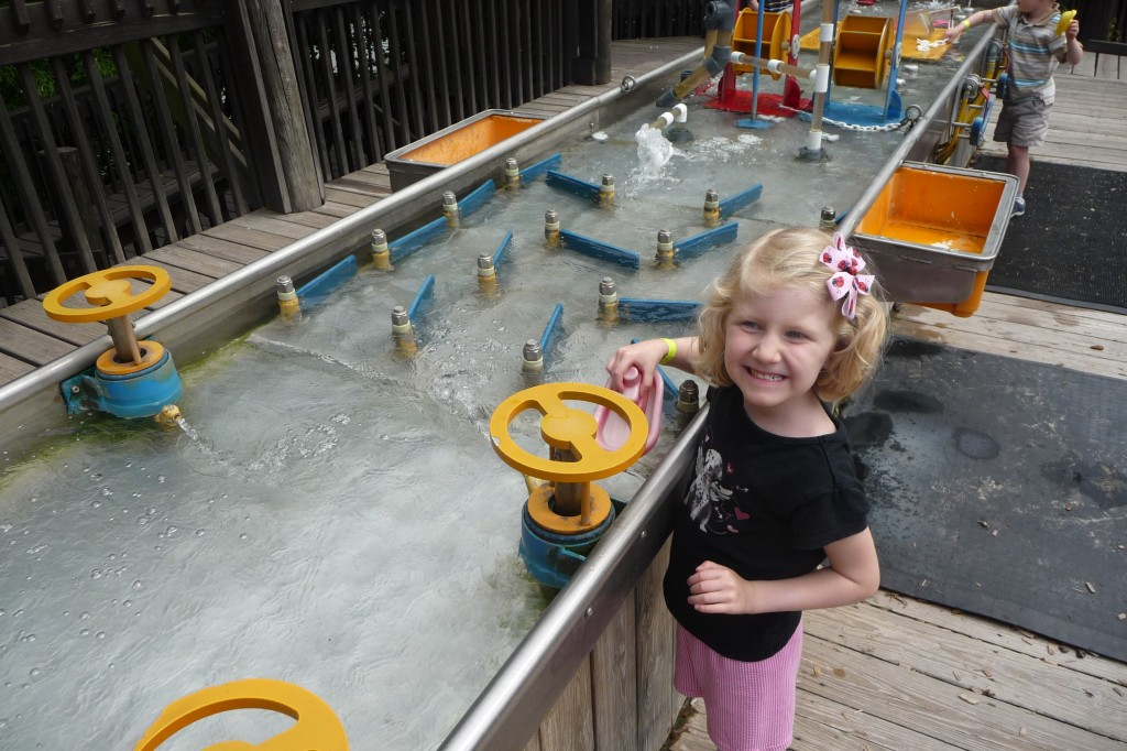Outdoor WaterWorks Interactive Exhibit at Discovery Center Museum