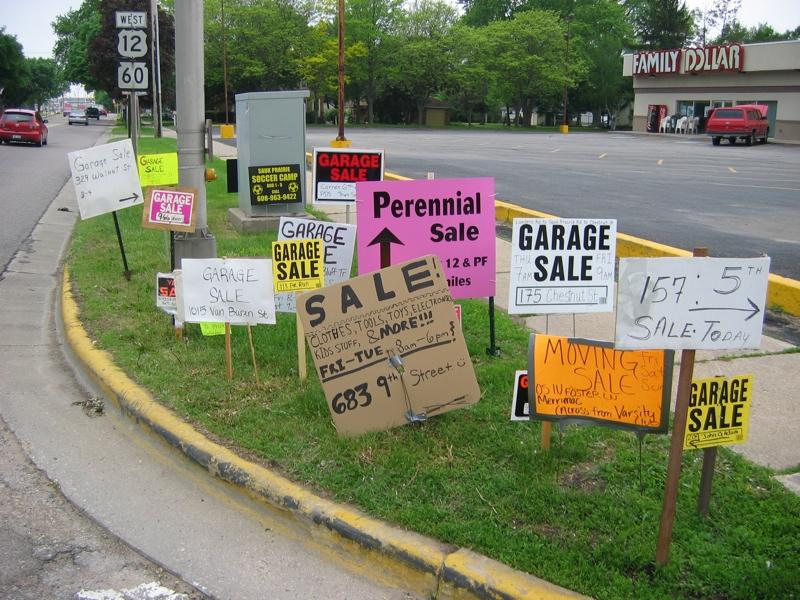 Visiting Garage Sales on a Road Trip