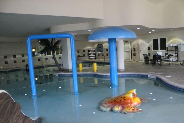 Pool area at the Rockford Hilton Garden Inn.