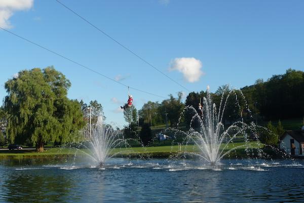 Zipline course.
