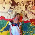 My Sister in a Huipil at Casa Hamaca