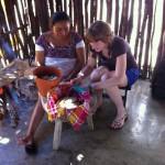 Helping to Make Tortillas