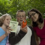 Campers geocache at Hickory Hill Family Camping Resort in Bath, NY