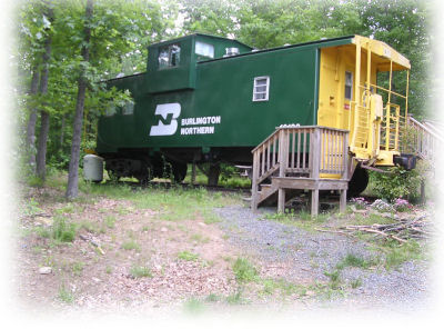 Families can stay in a caboose at Heavenly Acres campground in Standardsville, Virginia