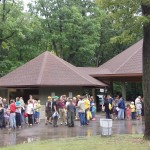 A Geocrowd at the Regner Park Pavilion
