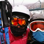 Mother-Daughter Moment on the Chairlift