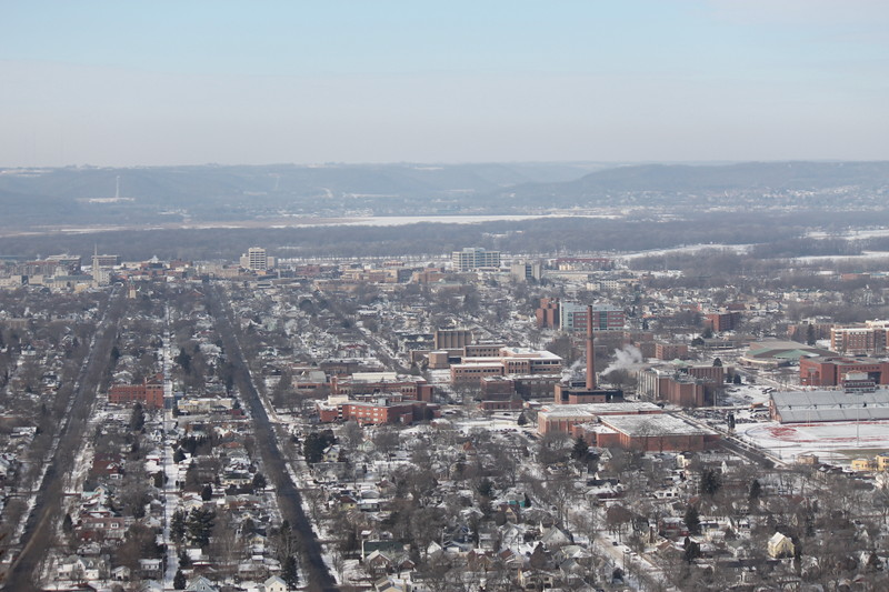Downtown LaCrosse From Bluff