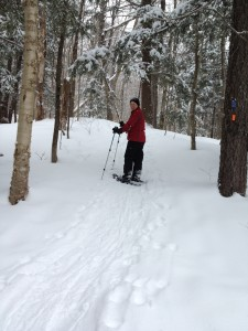 smuggs, smuggler's notch, snow shoeing