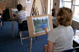 Art class at Smuggler's Notch