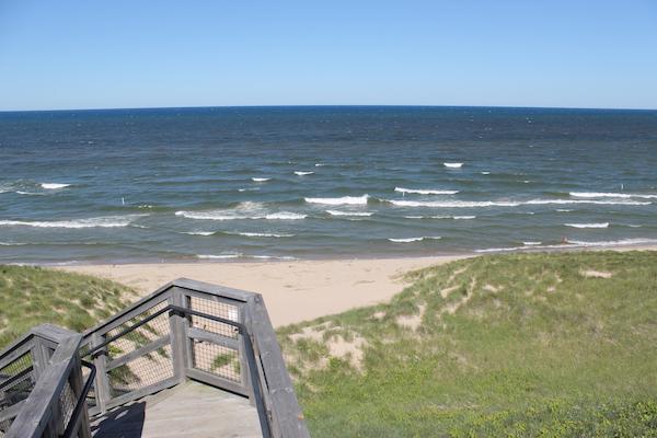 Lake Michigan And Dunes