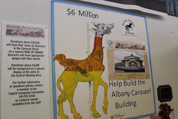 fundraising giraffe