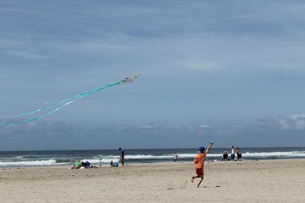 Flying Kites Rockaway Beach