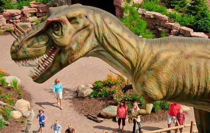 Dinosaur at Children's Museum of South Dakota