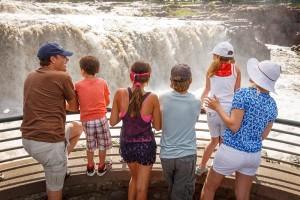 The falls of Falls Park, Sioux Falls, South Dakota