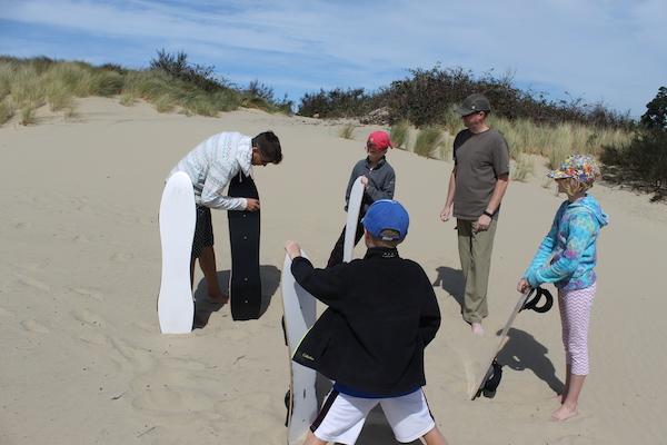 Waxing Sandboards