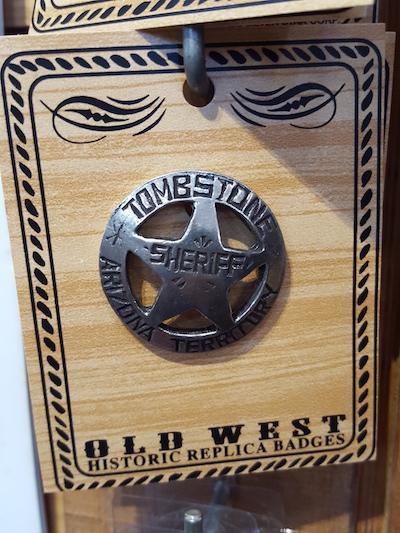 tombstone sherrif badge