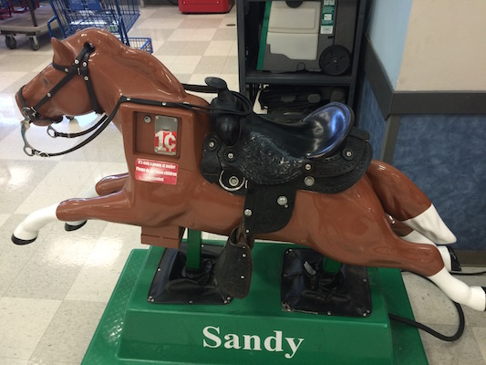 Don't leave those kids unattended, Sandy can practically fly!