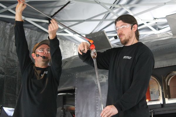 Glassblowing Demo at Chihuly Garden and Glass