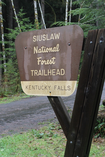 Kentucky Falls Trailhead