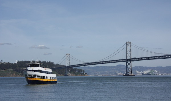 Blue & Gold Fleet with Bay Bridge Backdrop