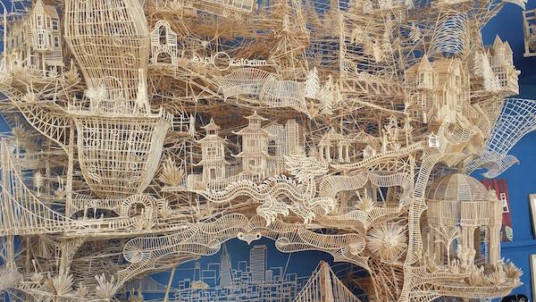 Toothpick Sculpture at the Exploratorium