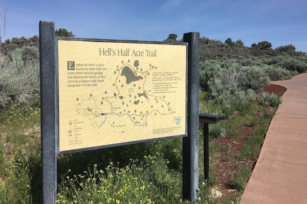 Hells Half Acre Trail Sign