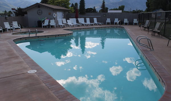 Pool With Clouds