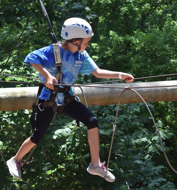 Navigating the Ropes Course at | Photo Credit: Clara Mankowski