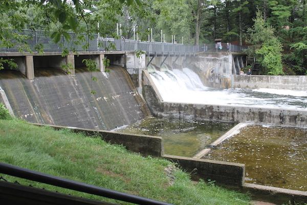 Hamlin Dam at Ludington State Park