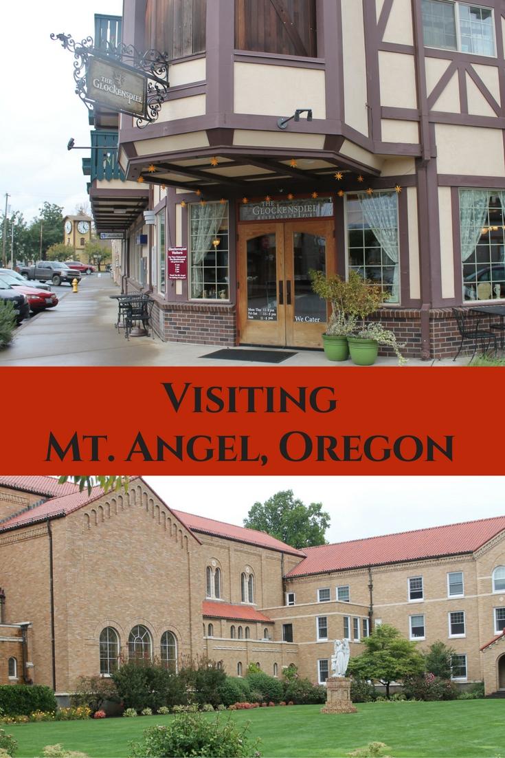 Visiting Mt. Angel, Oregon Pin