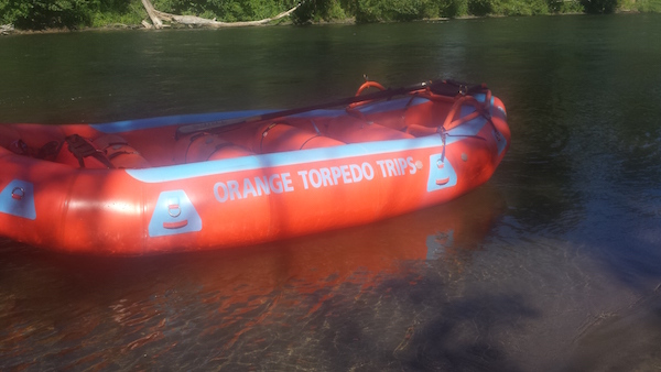 White Water Rafting the Rogue River with Orange Torpedo Trips Boat