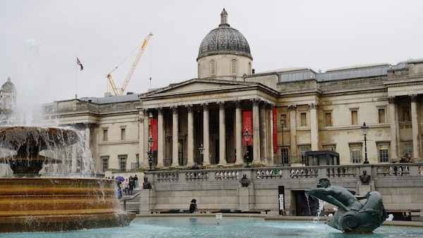 Trafalgar Square with the National Gallery in the back