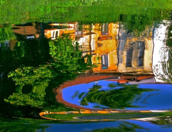 Selska Sora River reflections.